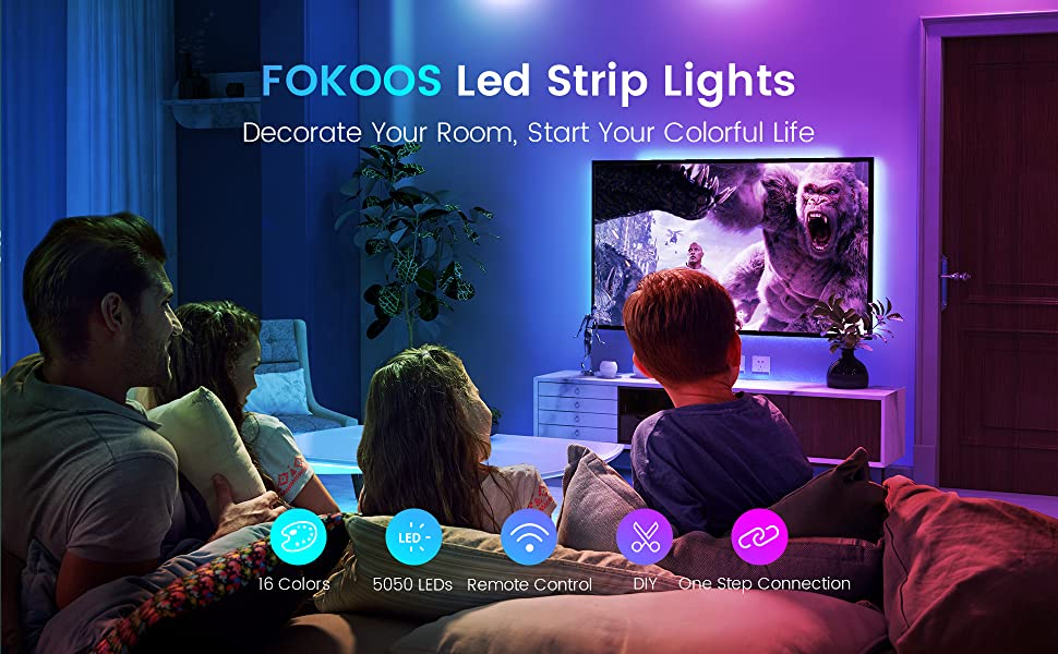 led strip with 5 bullets