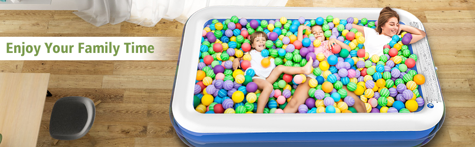 enjoy your family time with toy pool