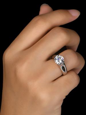 Moissanite bezel ring