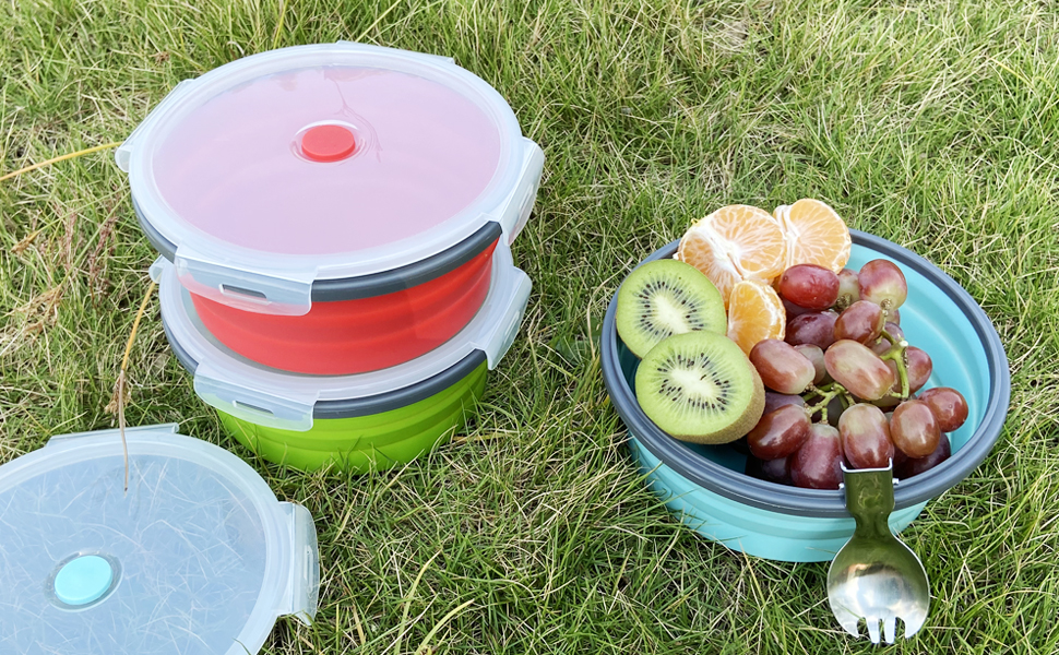 collapsible camping bowls