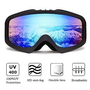 cable car design Premium Protective ski and snowboard goggles cover GogglesCover Premium