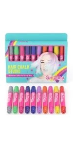 Gifts for girls age 4 5 6 7 8 9 10 11 arts amp; crafts for girls hair chalk temporary color Birthday