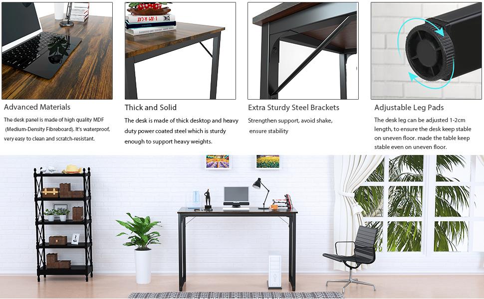 rustic brown desk 3