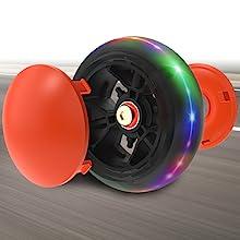 Allek scooter B03 flashing wheels big wide PU lightup brighten dust cover shield