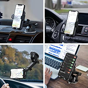 Windshield Car Phone Holder / Dashboard Car Phone Holder / Air Vent Car Phone Holder