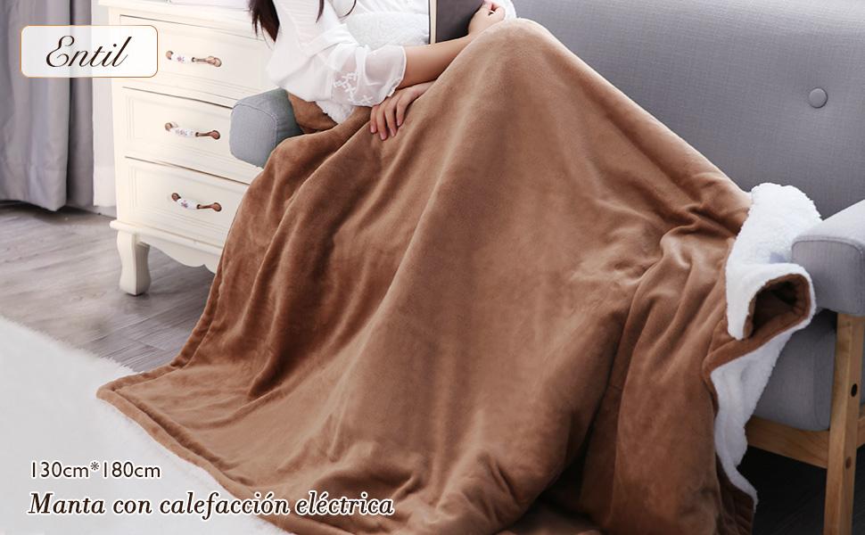 manta electrica térmica grande cama sofa temporizador espalda