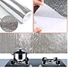 kitchen wall paper 2 meters oil-proof aluminum foil wall desk floor waterproof home