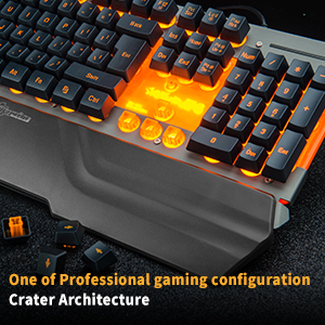 Professional PC keyboard for gaming