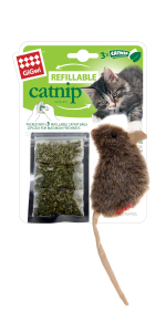 gigwi catnip cat toy mouse refillable