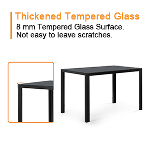 8 mm thickened tempered glass surface