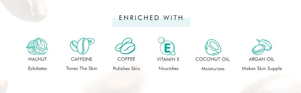 coffee walnut argan oil vitamin e pure arabica coffee coconut oil coffee face scrub body scrub