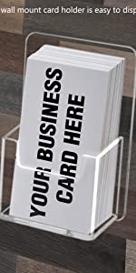 Marketing Holders Single Pocket Gift Card Retail Holder