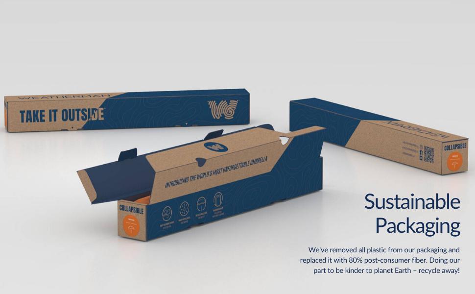 weatherman umbrella sustainable packaging