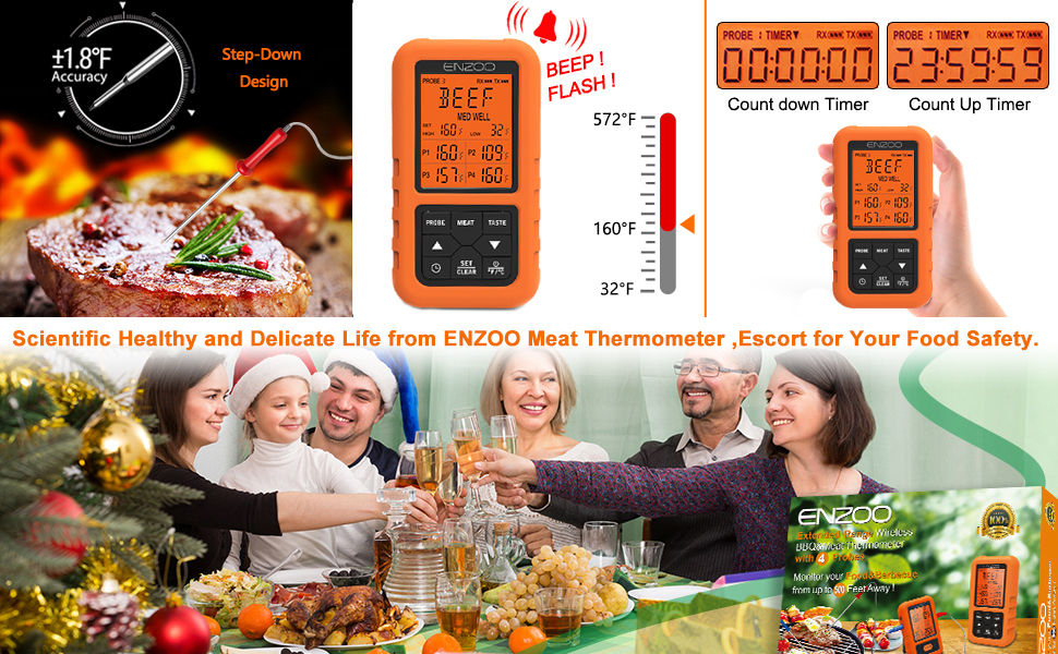 meat thermometer wireless meat thermometer