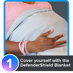 Cover yourself with the DefenderShield EMF blanket.