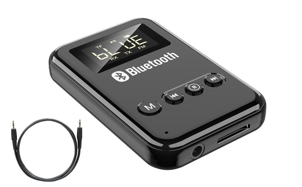 Receptor Transmisor Bluetooth 5.0 Adaptador de audio inal/ámbrico port/átil Adaptador Bluetooth para TV SHAYEE Transmisor Bluetooth PC sistema est/éreo del hogar coche