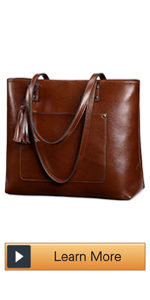Leather Shoulder Tote bag for women