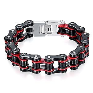 Schwarz/Rot Fahrradkette