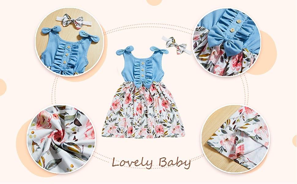 Toddler Girls summer Playwear Dress