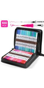 100 marqueurs de couleur pour Bullet Journal