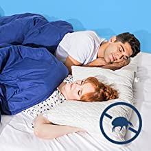 Dust mite resistant and hypoallergenic pillow