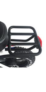 Ebike with bike rack