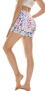 lepoard printed yoga shorts leggings
