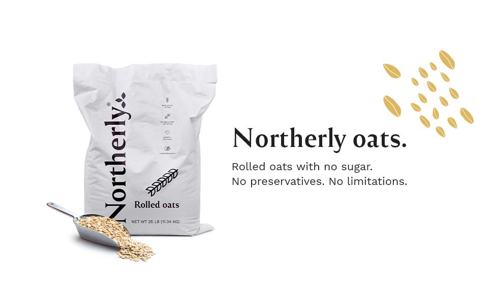 northerly, 25lb bag, oats