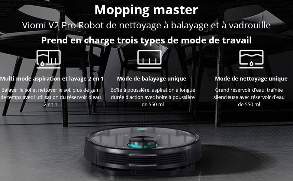 VIOMI V2 Pro Robot Aspirateur de Nettoyage et de Balayage 2