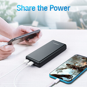 two usb ports power bank