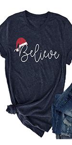 Christmas Believe Hat Shirt