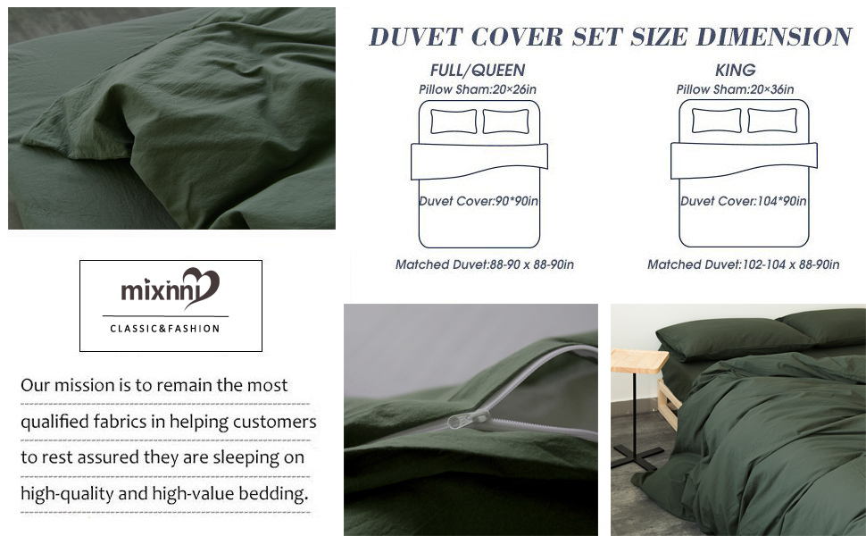 Dark Green Duvet Cover Set