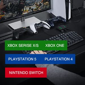 COMPATIBLE WITH MULTIBLE GAME CONSOLES
