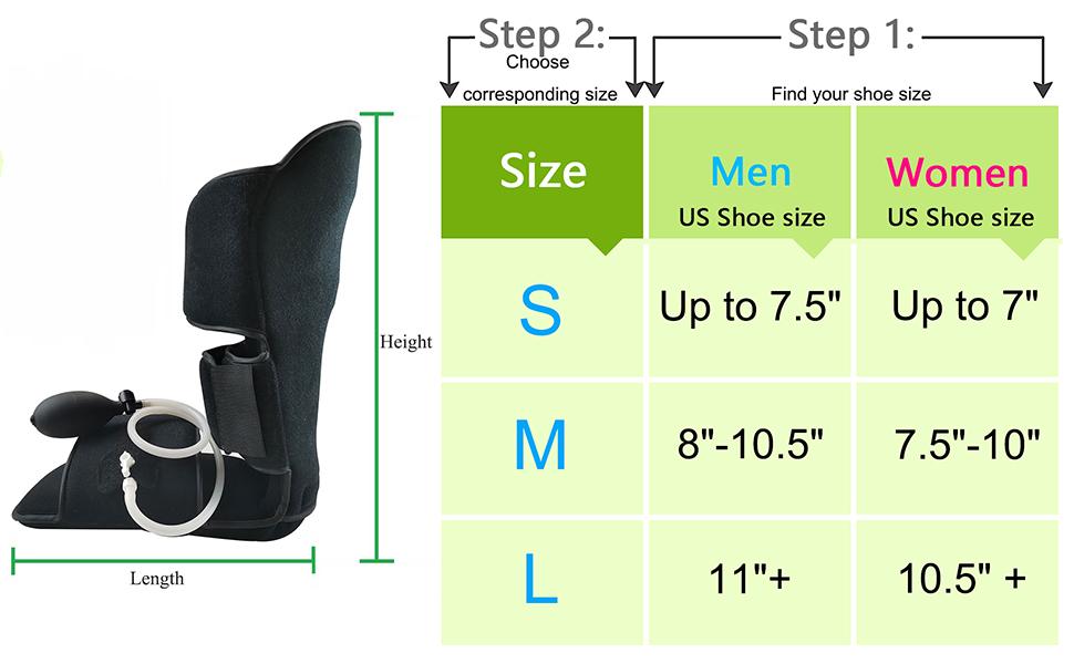 Pneumatic Brace Boot