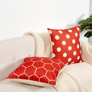red pillow covers c
