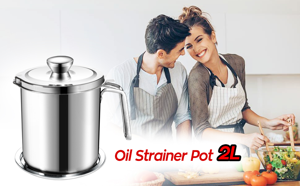 oil strainer pot 2L