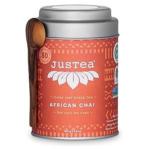 justea african chai organic fair trade loose leaf tea non gmo