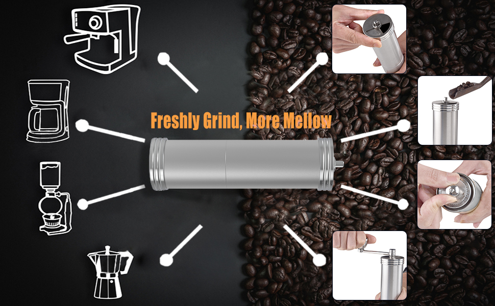 manual coffee bean grinder,coffee bean grinder manual,manual coffee grinder with adjustable setting