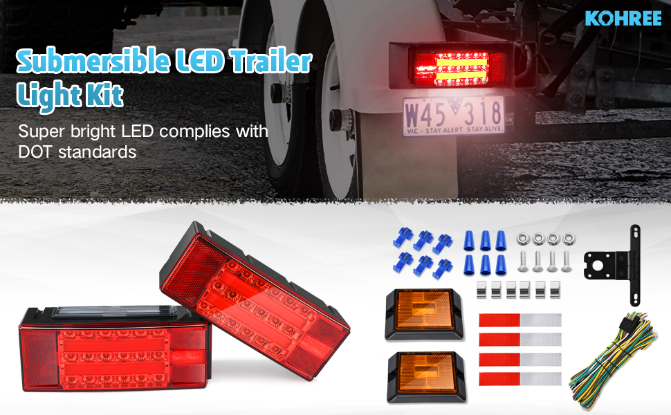 New Submersible LED Trailer Light Kit Boat