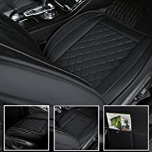 INCH EMPIRE Leather car seat cover black trim