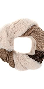scarf warm winter ski snow infinity scarf plushy knit women men unisex casual formal light warm soft