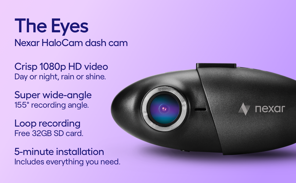 Nexar Halocam Dash Cam | 32 GB SD Card Included