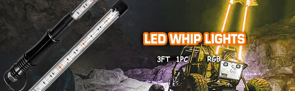 Led Whip Lights 3ft 1pc