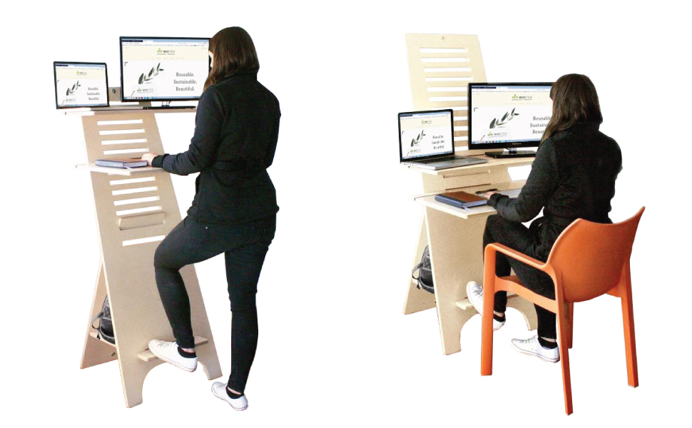 teatECOTRIBE BEECH WOOD SIT STAND DESK