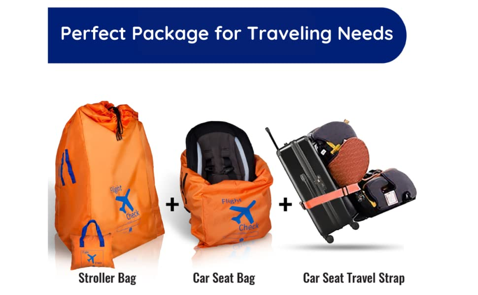 stroller bag for airplane,  stroller bag with strap, stroller bag with wheels