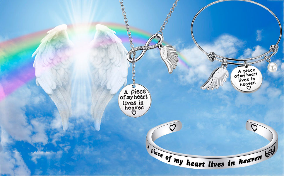 A Piece of My Heart Lives in Heaven Bracelet