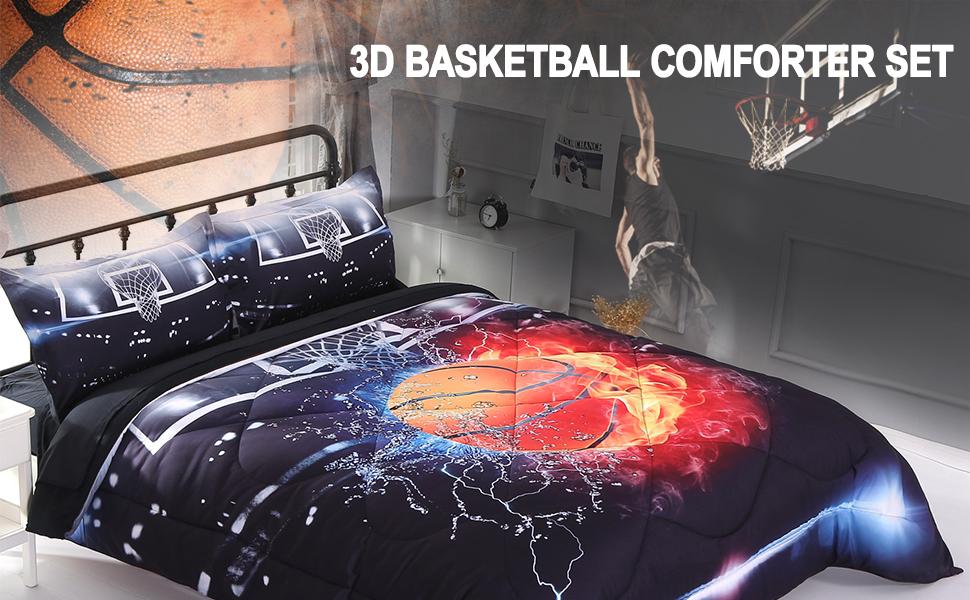 basketball bed comforter set