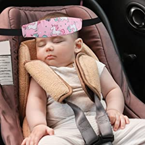 car seat baby sleep head support band toddler
