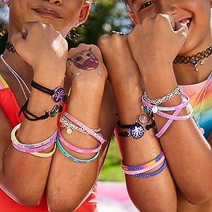 claire's best friend bracelets, hearts, unicorns, hearts, colorful, bff bracelet sets, cute designs