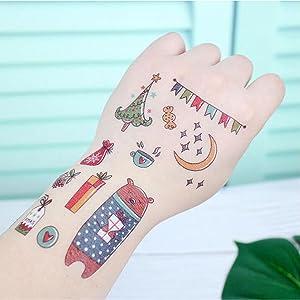 Navidad Tatuajes Temporales, Navidad Pegatinas Impermeables Tattoo ...